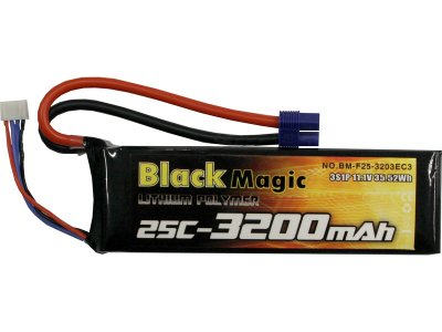 Black Magic LiPol 11.1V 3200mAh 25C EC3