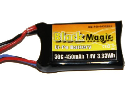 LiPol Black Magic 7.4V 450mAh 50C JST